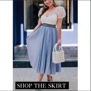 CHICWISH ✨NWT Striped Did You Hear Midi Skirt S/M